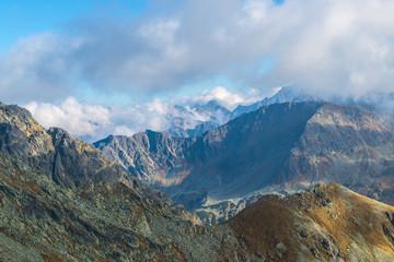 Panorama from the mountain top - High Tatras