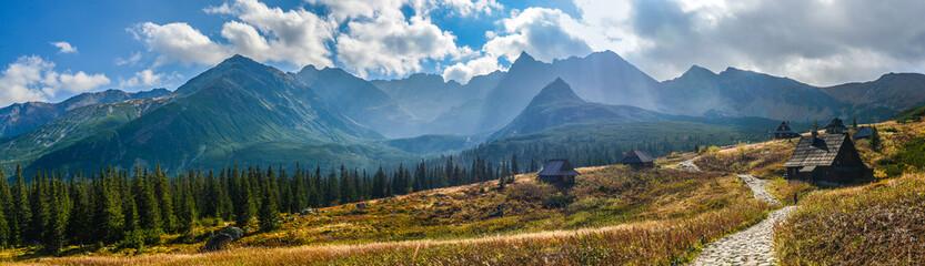 Fototapeta Hala Gasienicowa in Tatra Mountains - panorama obraz