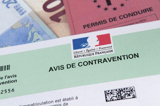 contravention permis