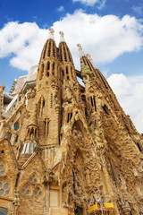 BARCELONA, SPAIN - SEPT 02, 2014: The Basilica of La Sagrada Fam