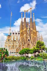 BARCELONA, SPAIN - SEPT 02, 2014: The Basilica of La Sagrada Fam