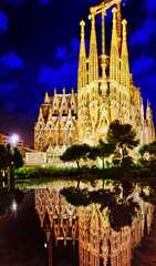 BARCELONA, SPAIN - SEPTEMBER 02: Sagrada Familia,beautiful and m