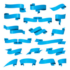 biggest collection of vector blue ribbons