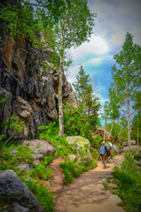 Hiking in Rocky mountains national park