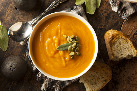 Homemade Autumn Butternut Squash Soup