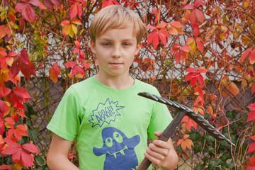 Boy ang garden