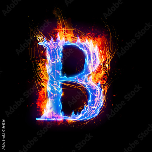 """fire and ice text,capital letter,alphabet-B"" Stock photo ... Letter B Fire"