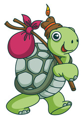 Adventure Turtle Funny Cartoon