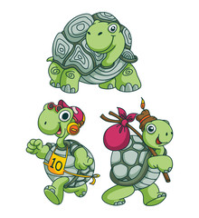 Turtle Funny Cartoon