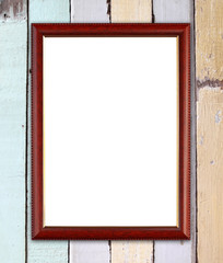 wood frame on wood wall