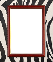 wood frame on zebra texture