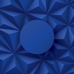 Blue background. Vector geometric background.