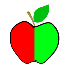 иллюстрация яблоко