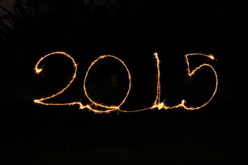 Happy New Year - 2015 sparkler