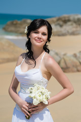 Wedding bride sea  tropics