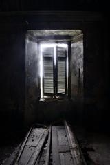 old dark window