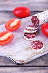 French salami with tomatoes