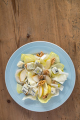 Endive Salad with Gorgonzola, Pears and Walnuts