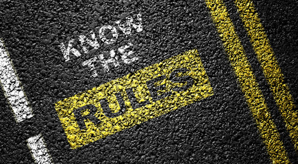 know the rules on the asphalt road