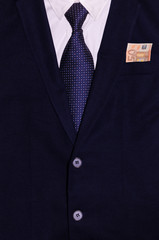 Businessman suit with money in the pocket