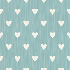 Abstract seamless retro pattern with hearts