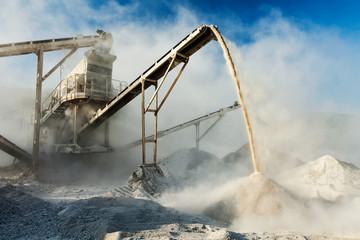 Industrial crusher - rock stone crushing machine Wall mural