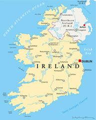 Ireland Political Map