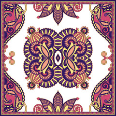 Traditional ornamental floral paisley bandanna. You can use this