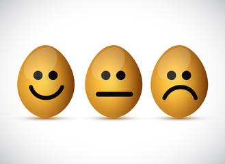 set of egg faces illustration design