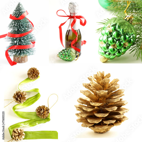set different christmas decorations and symbols - Different Christmas Decorations