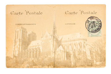 old Paris postcard