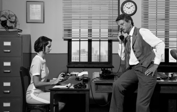 1950s style office