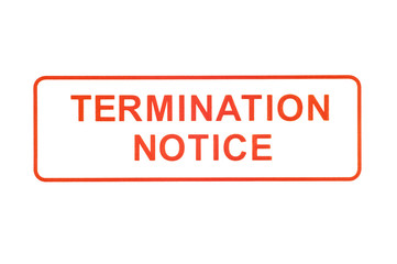 Termination Notice Rubber Stamp