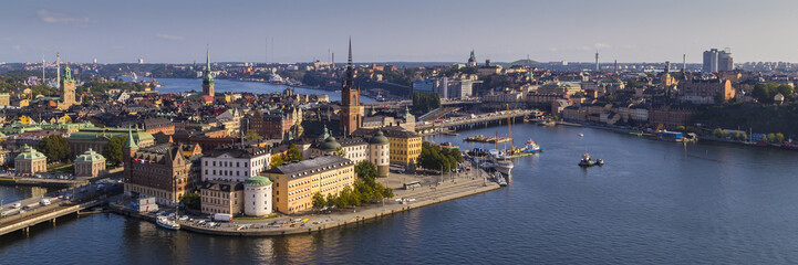 View of Gamla Stan in Stockholm from the Stadshuset tower