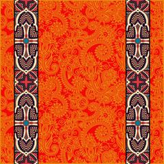 lace border stripe in ornate floral background