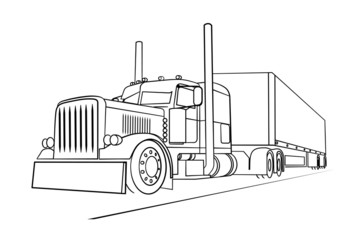 eighteen wheeler coloring pages - photo#38