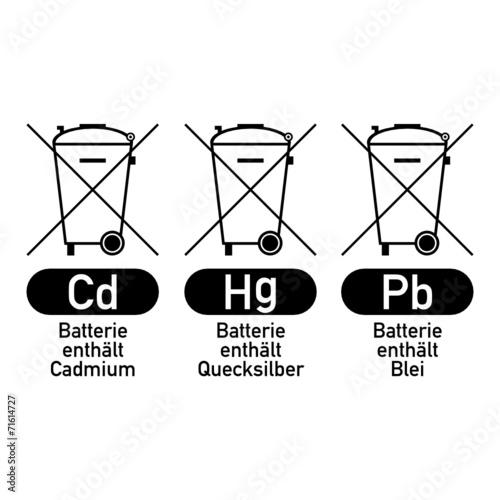symbol batterie entsorgung III\