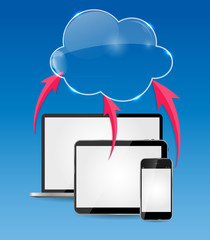 Cloud Computing Business Concept Vector Illustration