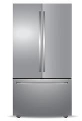 Steel french door refrigerator