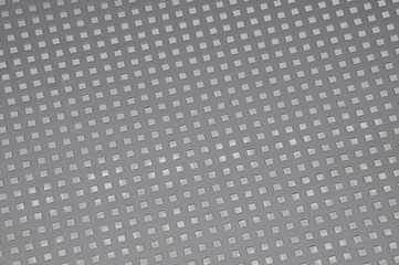 Background surface metal with square holes