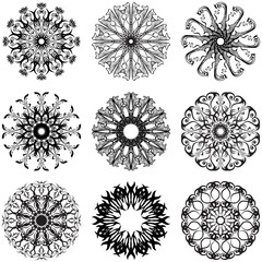 Decorative lace round flowers