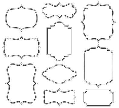 Set of simple decorative frames