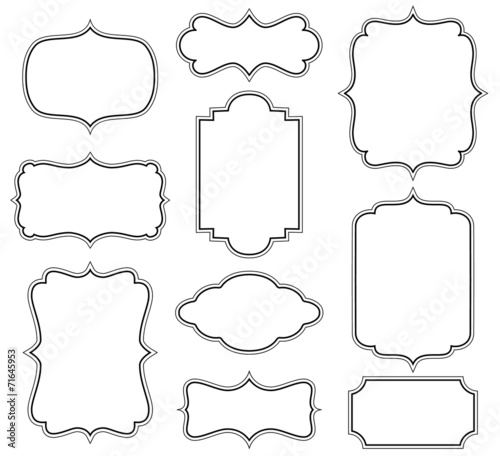 Simple One Line Text Art : Quot set of simple decorative frames stock image and royalty