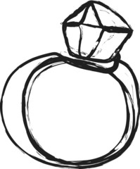 doodle diamond wedding ring