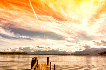 wooden jetty (171) lake chiemsee