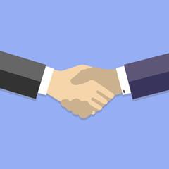 Handshake - business flat vector illustration