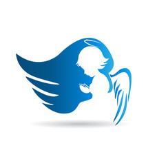 Angel logo vector design
