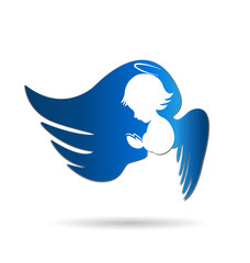 Angel logo icon vector