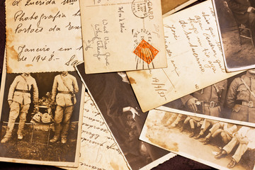 old photoes and postcards about 1940-1945