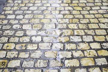 Wet floor tiles